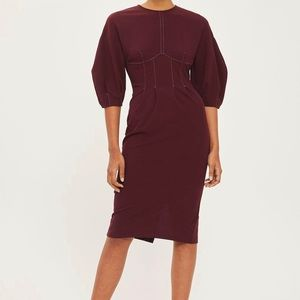 BNWT Beautiful Topshop Burgundy Dress